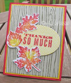Hollybeary Creations  Thank you card good for fall
