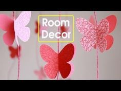 Birthday party paper crafts DIY -Butterflies Wall-Room Decor    Make Paper Butterflies   Easy Paper