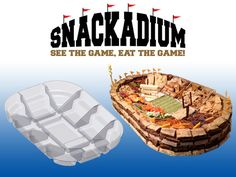 Snackadium, A Customizable Set of Plastic Food Containers for Making Sports Stadiums Out of Game Day Snacks