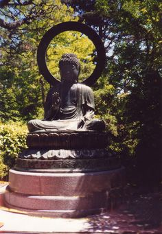 Japanese gardens Buddha