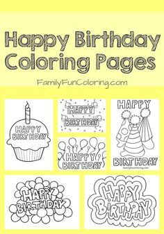 birthday card ideas coloring coloring birthday cards happy birthday coloring pages happy birthday printable