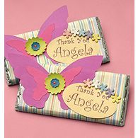 candy bar favors - make with princess cut outs