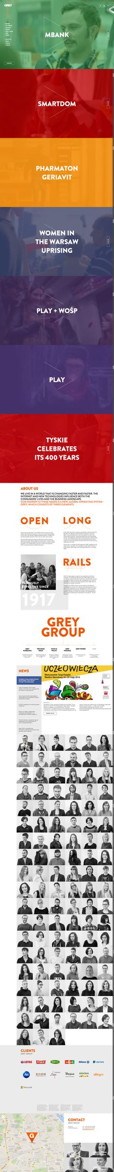 Grey Group website redesign  // loops + parallax + long page = simple elegant engaging page design //  http://greygroup.pl/