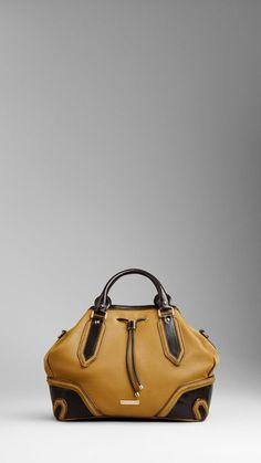 medium metallic frame tote bag - burberry prorsum