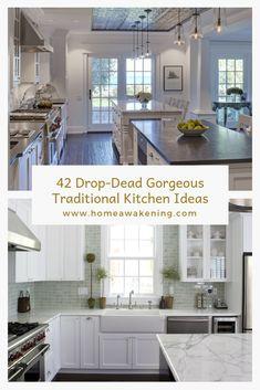 42 Drop Dead Gorgeous Traditional Kitchen Ideas