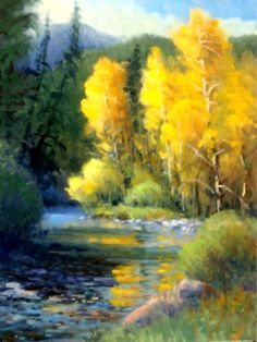 taos+new+mexico+sunsets   Sipapu Autumn, oil on board, small