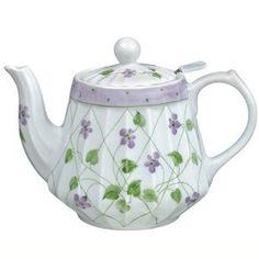 Porcelain Teapot - Violets