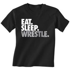 Wrestling Tshirt Short Sleeve Eat Sleep Wrestle (Stack)