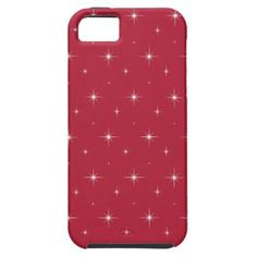 Red Cyclamen And Bright Stars Elegant Pattern iPhone 5 Cover