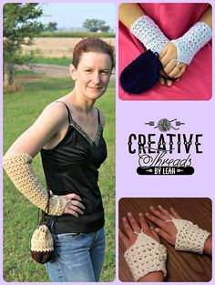 Ravelry: Swirling Leaves Opera Gloves pattern by Creative Threads by Leah