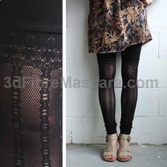Lace Leggings - Subtle Faux Thigh High #pantyhose #sexy #ladies #women #ladyproducts #lush #smooth #fashion #stunning #legs #glamour