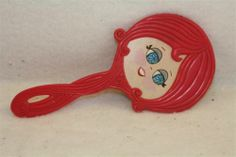 Vintage 1950's Girls Hand Mirror