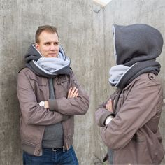 If you think hats are just not for you we came up with a great alternative for the cold days. Try our hooded scarfs! One scarf so many possibilities! This cosy reversible scarf with hood will...