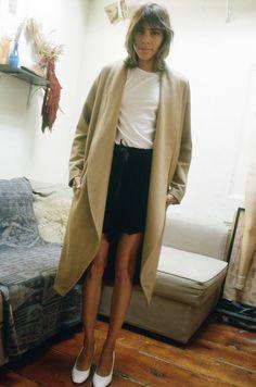 Datura Blog - Mari Giudicelli wearing our Camel Escape Coat in a cashmere wool blend
