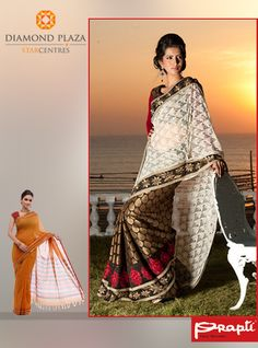 Nothing makes a woman look beautiful like a saree does! Get stylish and elegant Sarees from Prapti at Diamond Plaza.