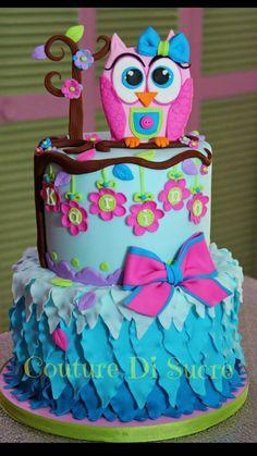 Owl birthday cake very cute! Birthday Cakes Girls Kids, Owl Cake Birthday, Owl Birthday Parties, Birthday Ideas, Cake Wrecks, Owl Cakes, Cupcake Cakes, Ladybug Cakes, Fruit Cakes