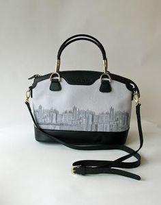 64a20524062d Skyline Embroidered Canvas Book Bag
