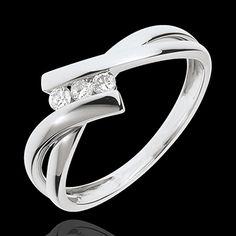 Quality Constructive 18ct Oro Blanco Completo Alianza Con Diamante Excellent In