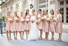 Blush Pink Bridesmaids Dresses ~ Photo: Kimberly Chau Photography #bridesmaid #bride #wedding