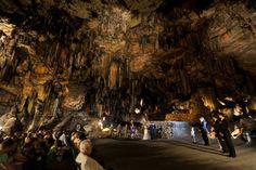 Cave wedding http://www.rocknrollbride.com/2012/04/an-alabama-cave-wedding-melissa-greg/
