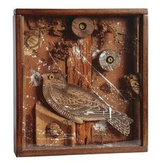 View Bird in a Box By Joseph Cornell; wood, cork, branches, paint, printed paper and grains in wood and glass box construction; 32 x x cm. Access more artwork lots and estimated & realized auction prices on MutualArt. Joseph Cornell Artwork, Joseph Cornell Boxes, Collages, Collage Art, Shadow Box Art, Mixed Media Sculpture, Found Art, Assemblage Art, Sculptures