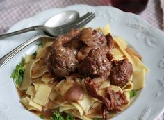 Meatball Stroganoff: fab mushroom sauce and quick meatballs for a retro dinner with a twist.