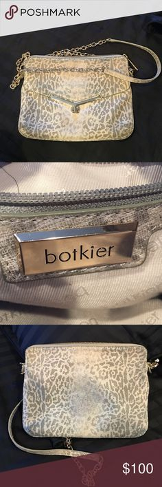Botkier cross body bag 100%authentic Botkier animal print cross body with gold detail . Has a zipper pocket on inside and out. Always had a worn look to it ! Love this bag for casual or dress Botkier Bags Crossbody Bags