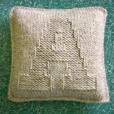 A is for Alphabet hand-knit pillow by The Creative Gene