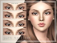 Pure Eyeliner by Pralinesims - Sims 3 Downloads CC Caboodle