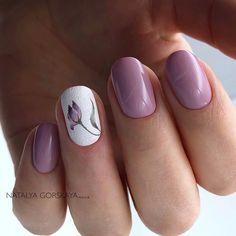 Cute Nail Art, Cute Nails, Pretty Nails, Orange Nail Designs, Nail Art Designs, Hair And Nails, My Nails, Short Nails Art, Purple Nails