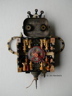 Recycled Assemblage  Buzz Buzz  Found Object Art  by redhardwick $175.00