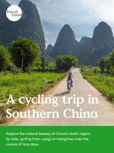 Despite its vastness, China is a great destination to explore by bike. Our 'Cycling through Southern China' itinerary is the perfect trip for those who want an active holiday, set against a stunning rural backdrop. Holidays In China, Cycling Holiday, Rose Trees, Guilin, Vintage Travel Posters, Mountain Biking, Natural Beauty, Travel Tips, Backdrops