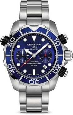Certina Watch DS Action Chrono Divers Automatic #bezel-unidirectional #bracelet-strap-steel #brand-certina #case-material-steel #case-width-45-2mm #chronograph-yes #classic #date-yes #delivery-timescale-7-10-days #dial-colour-blue #gender-mens #movement-automatic #official-stockist-for-certina-watches #packaging-certina-watch-packaging #style-divers #subcat-ds-action #supplier-model-no-c013-427-11-041-00 #warranty-certina-official-2-year-guarantee #water-resistant-200m