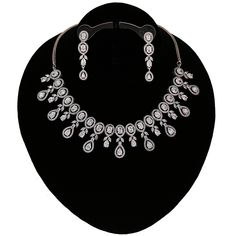 indian traditional imitation bridal jewelry marquise pear white CZ crystal necklace earrings set for women. White cubic zircon micro paved rhodium plated wedding necklace makes the perfect gifts for bridesmaids,Wife, Mother, Sister or Gift for Loved ones. Pearl Necklace Price, Small Necklace, Crystal Necklace, Indian Jewelry Sets, Bridal Jewelry Sets, Diamond Earing, Diamond Jewelry, Prom Jewelry, Wedding Jewelry