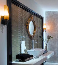 Glass Subway Tiles Bathroom