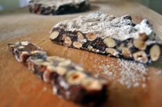 Panforte isn't really a cake at all or a bread, as its name implies. It's more like candy--a lovely piece of grown up christmas candy. Sliced very thin and eaten with a glass of red wine or a strong cup of coffee, it's delicious.