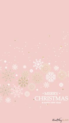 Merry Christmas pink snowflakes