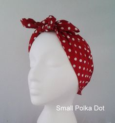 Rosie the Riveter rockabilly small red polka dot pinup by FlyBowZ, $9.00. CUTE