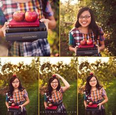 Senior pictures at an apple orchard ❤️