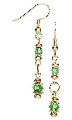 Earrings with Celestial Crystal® Beads and Gold-Plated Brass Beads