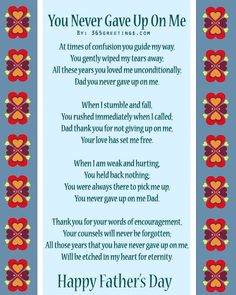 Father's Day Poems From Daughter | father s day poems 1