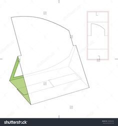 Counter Display Stand With Blueprint Pattern Stock Vector Illustration 188985056 : Shutterstock