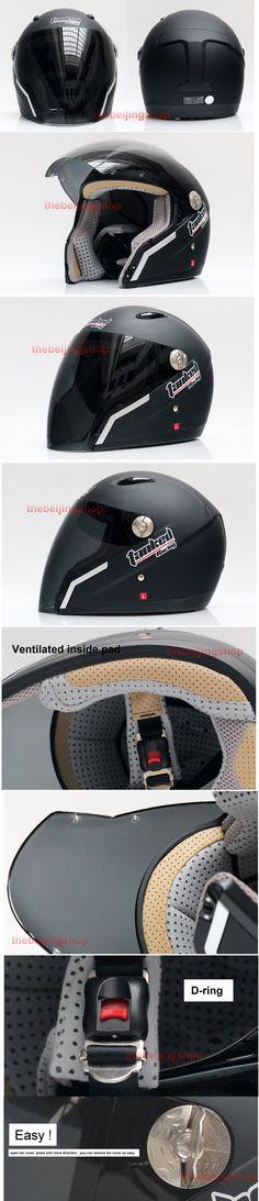 Tanked racing Winter open face motorcycle helmet matte
