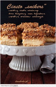 Ciasto snikers - I Love Bake Pastel, Junk Food, Sweet Tooth, Cheesecake, Cookies, Chocolate, Baking, Fruit, Biscuits