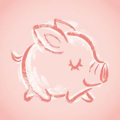 Happy pig on Behance
