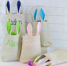 Personalized Easter Tote by TinTreeGifts on Etsy