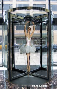 Creative Advertising Ballet school guerrilla marketing ad with revolving doors Creative Advertising, Guerrilla Advertising, School Advertising, Advertising Campaign, Advertising Design, Marketing And Advertising, Advertising Ideas, Marketing Ideas, Email Marketing