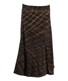 Take a look at this Chocolate Lattice Boot Skirt by Ojai Clothing on #zulily today!