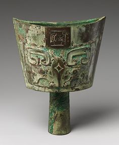 Bell (Nao) made of bronze in China during the Shang dynasty ((ca. 1600–1046 B.C.).