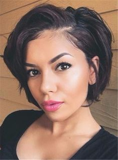 Short Wave Layered Loose Synthetic Hair Lace Front Cap Wigs 8 Inches